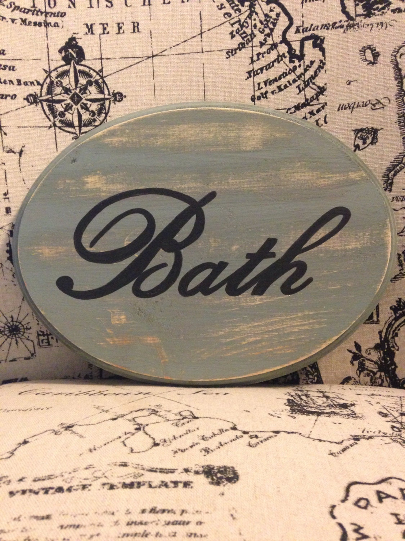 Adorable bathroom sign large sage 7x9 for 7x9 bathroom designs