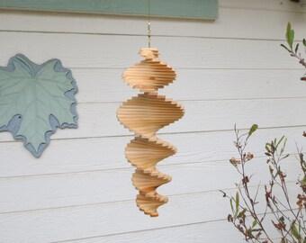 """Cedar Helix Wooden Wind Spinner 14"""""""