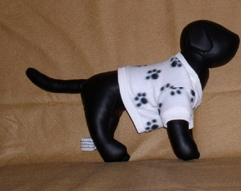 OOAK dog fleece shirt in 5 sizes