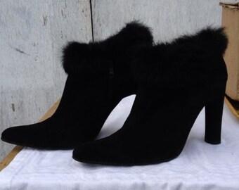 Vintage Bertie Fur Trimmed Boots WOW