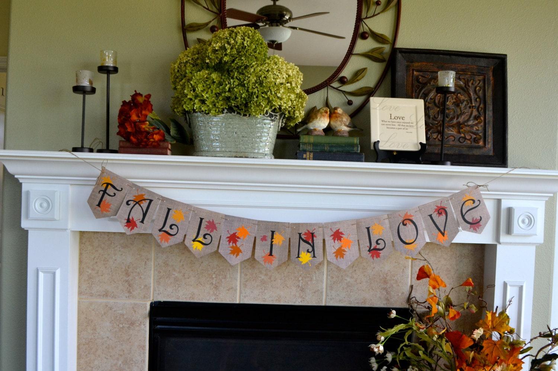 Fall Wedding Banner Autumn Bridal Shower Banner Fall In Love