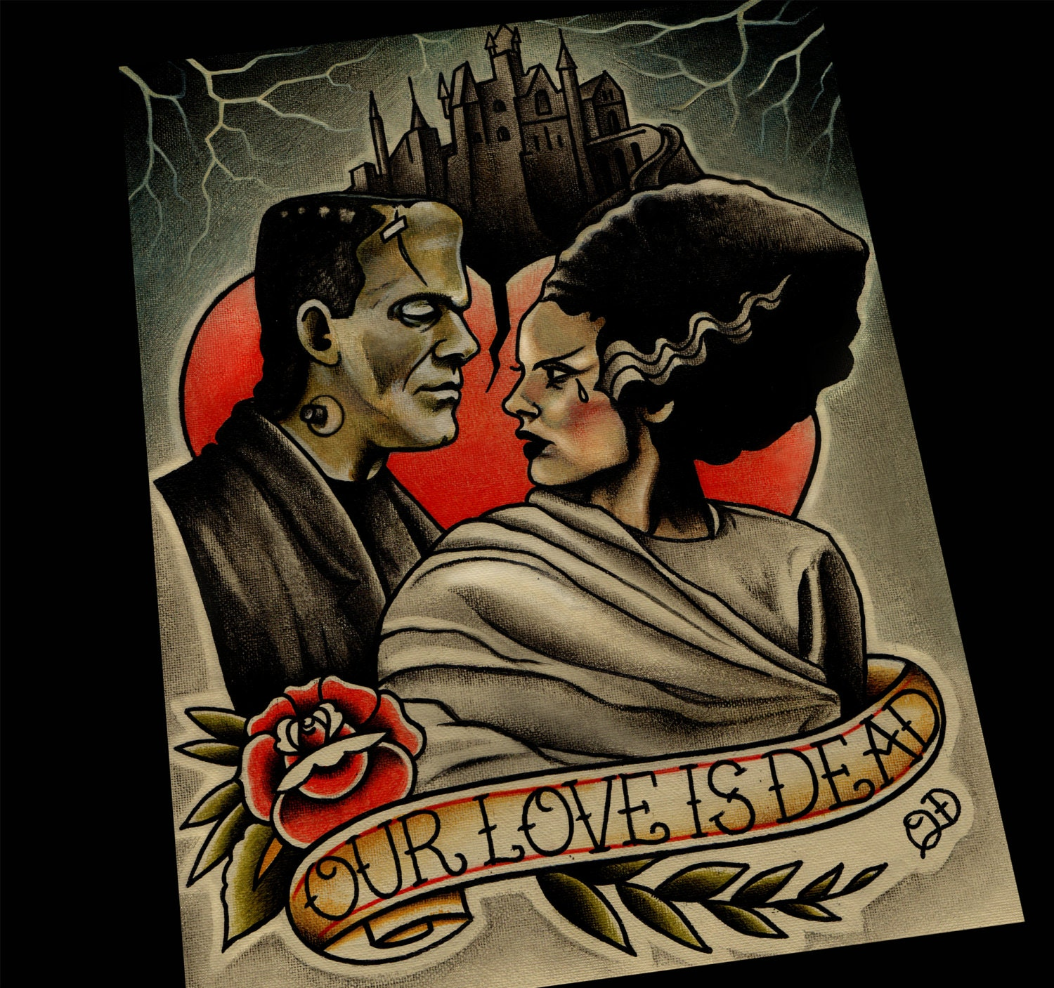 Our Love is Dead Frankenstein and Bride of Art Print  Our Love is Dea...