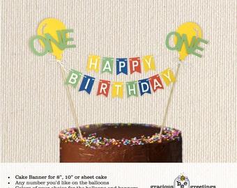 Cake Banner, birthday, baby, childrens, celebration, party, 1st, 2nd, 3rd, cake topper, custom, pendant, flag