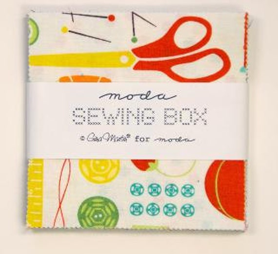 Sewing Box Charm Pack by Gina Martin for Moda