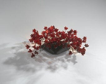 Wall lighting lamp - wall sconce red jumping flowers