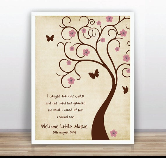 bible verse thumbprint tree guest book poster printable baby