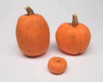 Dollhouse Miniature Pumpkins, Fall, Halloween