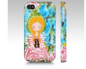Photographer girl iPhone Case,Gifts for her,Colourful iphone case,Whimsical art iPhone Case,iPhone 4,5,6 and 4s Accessory