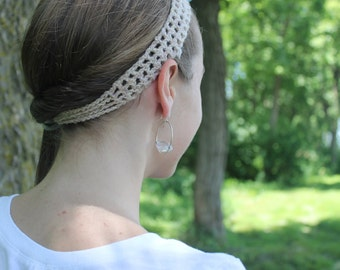 Crocheted Lacy Headband
