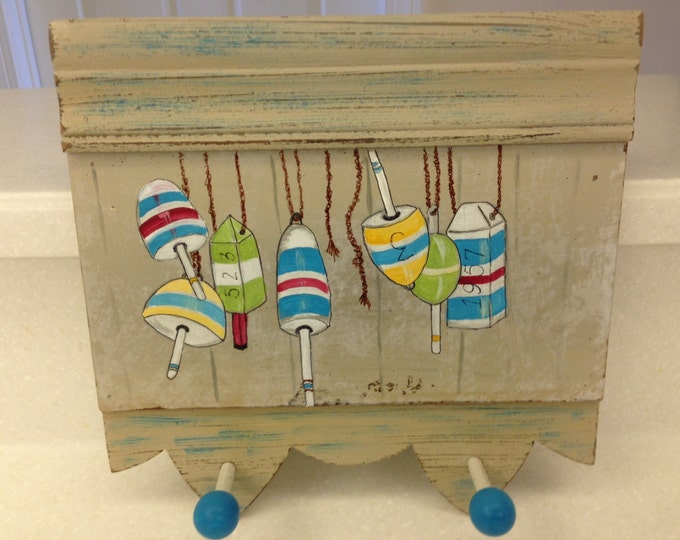 Solid Wood Clothes Rack with Acrylic Painted Fishing Bobbers