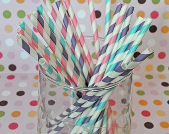 Doc McStuffins Paper Straws Party Straws and Coordinating DIY Straw Flag PDF