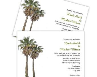 Palm tree print | Etsy