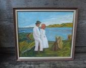 Vintage Danish Oil Painting