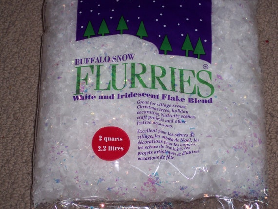 Flurries artificial snow flakesbuffalo by uniquelyyourscrafts