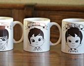 Personalized portrait mug - LILLYPUT STYLE