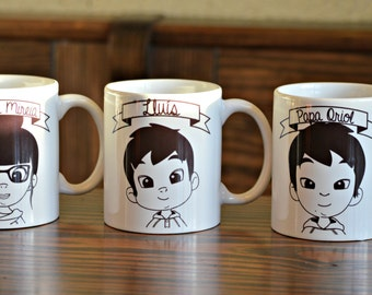 PACK X2 -Personalized portrait mug - LILLYPUT Style