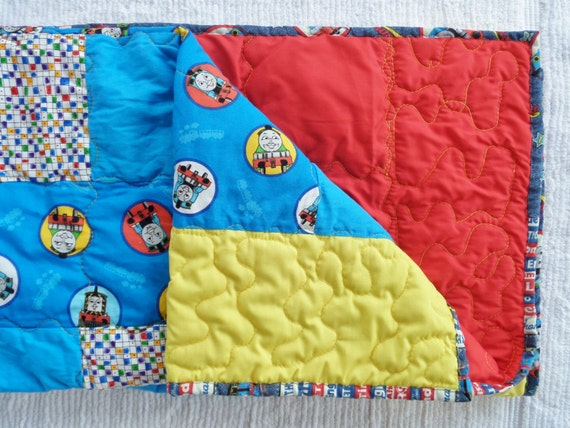 Homemade Thomas The Train Crib Or Toddler Quilt 37x52