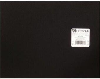 """Kunin Felt 9""""x 12"""" EcoFi Acrylic Polyester Blend BLACK"""