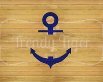 INSTANT DOWNLOAD - Split Anchor Embroidery Design, Anchor Embroidery Design, Anchor Monogram, Anchor Design