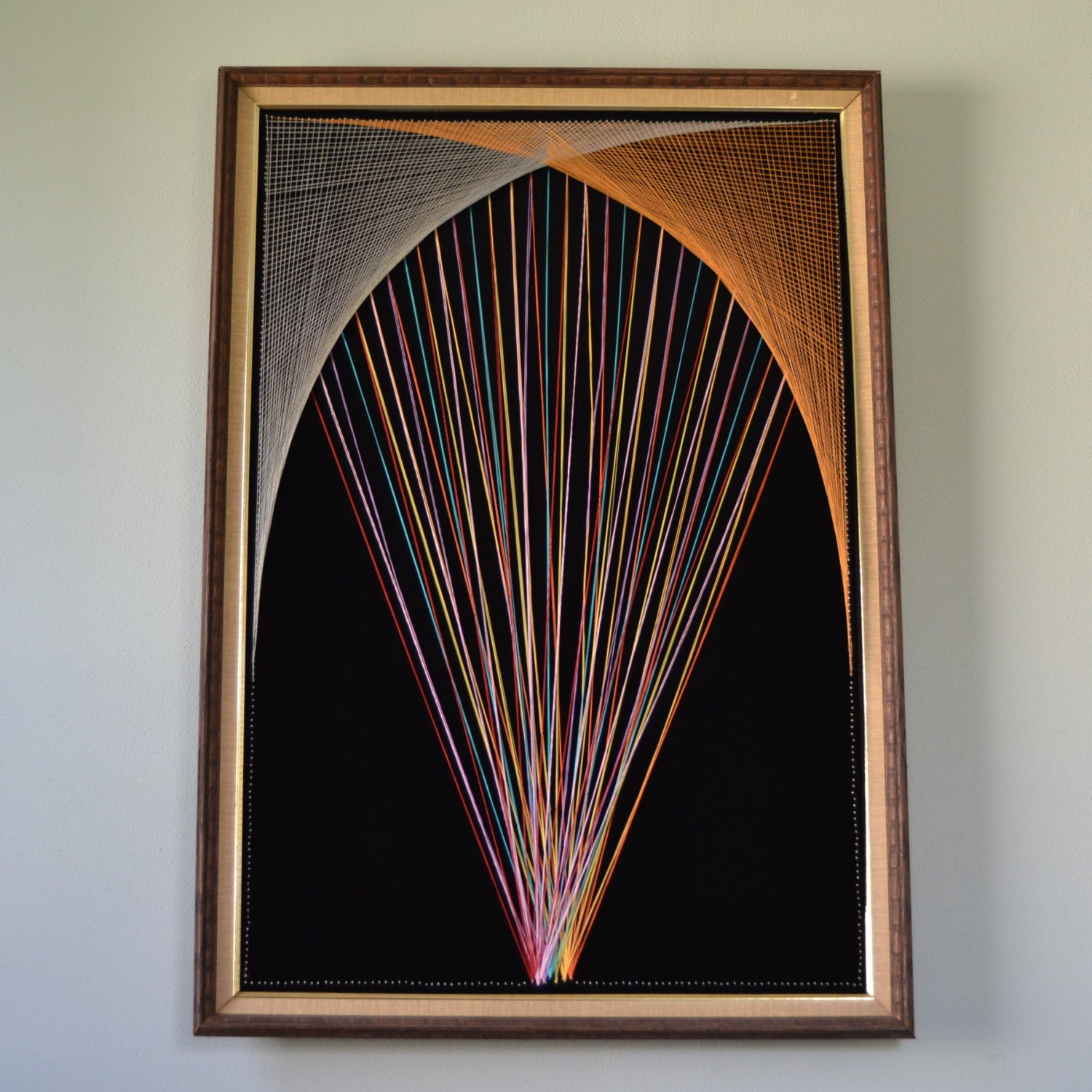 1970s Modern Home Architecture: Large Modern 1970s String Art By TwoGuysVintage On Etsy