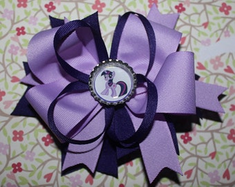 My little pony hair bow (twilight sparkle)