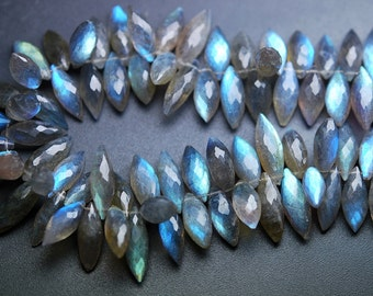 6 Inch Strand,very,Finest Quality,Blue Flashy Labradorite Micro faceted Dew Drops,9-11mm aprx