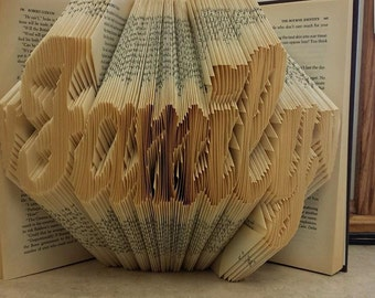 Folded Book Art - Family - Made to Order