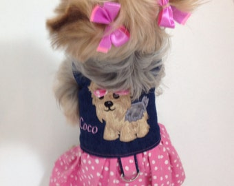 Personalized Yorkie Harness Dress