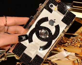 Black designer bling case - fits iphone 5, 5s and 5c
