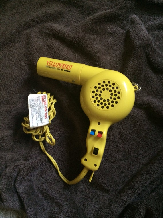 Vintage Conair Yellow Bird Professional 1600 Hair Dryer Blow