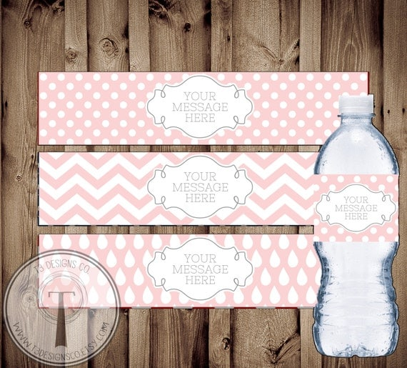 blank water bottle labels instant download water bottle