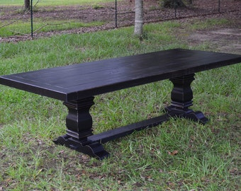 Harvest Table   Dining Table   Farmhouse Table Black - shipping included