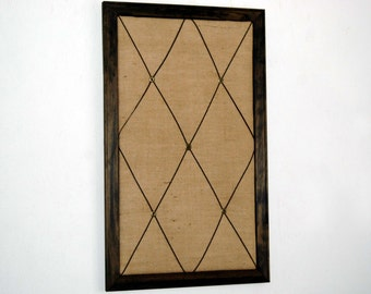 Framed Burlap French Memo Board