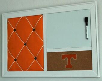 Dorm Decor College French Memo Board, Corkboard Bulletin Board & Whiteboard Dry Erase  Wall Organizer UT  University of Tennessee