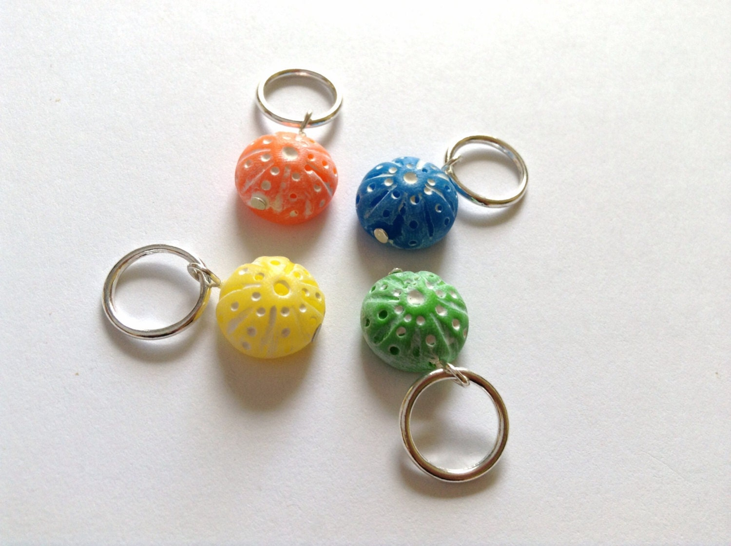 Using Stitch Markers In Knitting : Sea urchin knitting stitch markers for by AbsoKnittingLutely