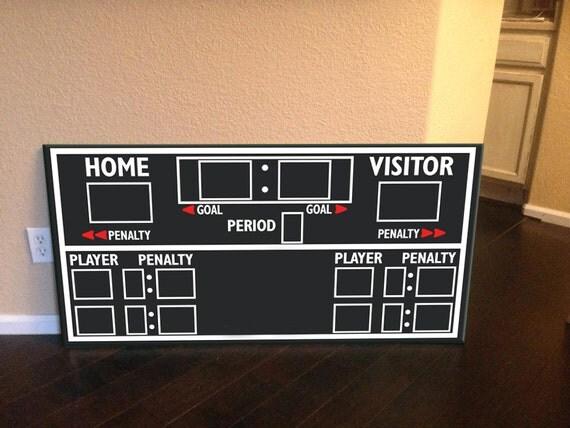 Scoreboard Hockey Scoreboard Hockey Decor Hockey Wall Art