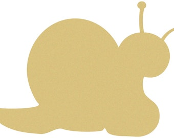 SNAIL Unfinished Wooden Craft Shape, Do-It-Yourself