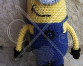 "Despicable Me ""Tim"" Inspired Amigurumi Minion Doll Customizable to your favorite minion!"