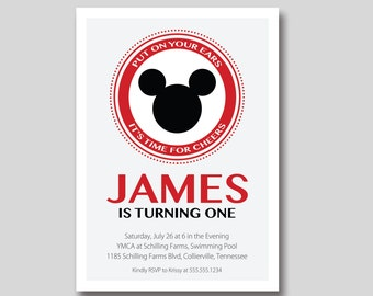 Mickey Mouse Club Birthday Invitation - Custom Printable