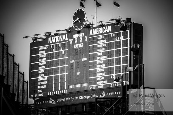 Wrigley Field Scoreboard Wrigley Field Scoreboard Sign