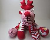 Handmade Custom Memory Rudolf - Wonderful Memory Christmas Keepsake - Memory Bear
