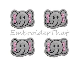 UNCUT Elephant felt applique embellishments hair bow center feltie (4)