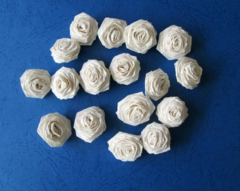 50 Paper Origami Roses - Shiny Ivory color, only for 8.00 usd