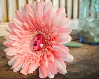 Pink Gerber Daisy Flower Pen