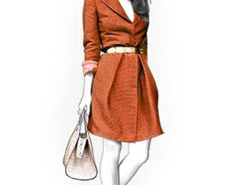 4359 Personalized Coat Sewing Pattern - Women Jacket, Ladies Clothes, PDF pattern
