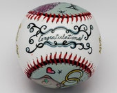 Baseball Wedding- Gift Baseball, Wedding Present, Personalized Wedding Gift, Bride and Groom, Wedding Date (OCCASION04)