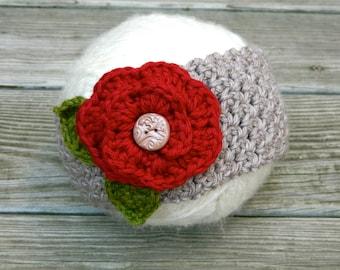 Toddler Winter Headband With Flower