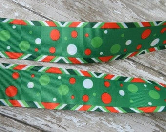 3 Yards of 1.50 Inch Grosgrain  Christmas Ribbon