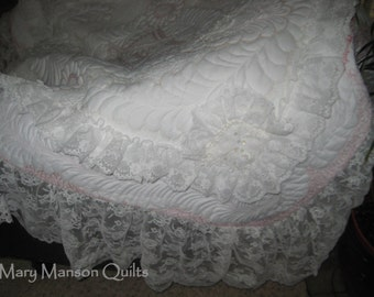 Wedding Dress Quilt - custom designed from your wedding dress!