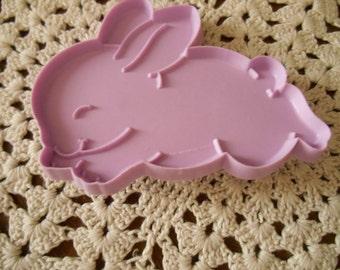 Hallmark Cookie Cutter, A Lavender Bunny Cookie Cutter  4 1/8 inch by 3 3/8 inch Hallmark Rabbit